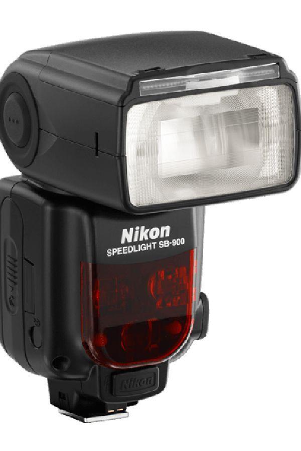 The Nikon SB-900 AF Speedlight against white background.