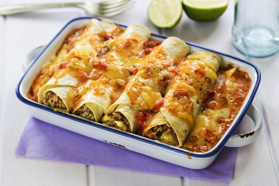 Spicy beef enchilada
