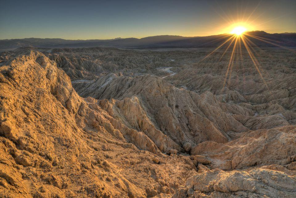 Anza-Borrego Desert State Park at Sunset