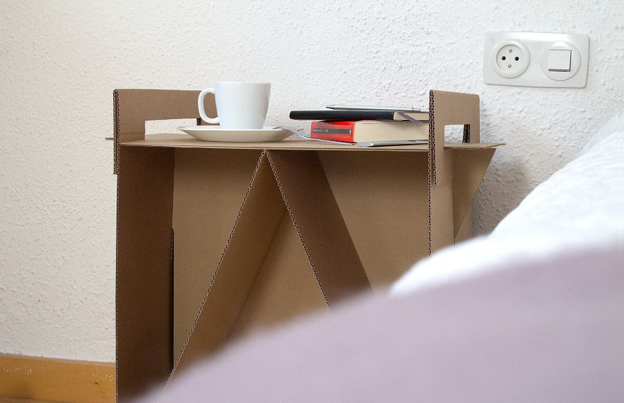 How To Make A Cardboard End Table