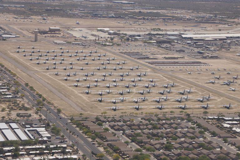 Davis-Monthan Air Force Base boneyard in Arizona.
