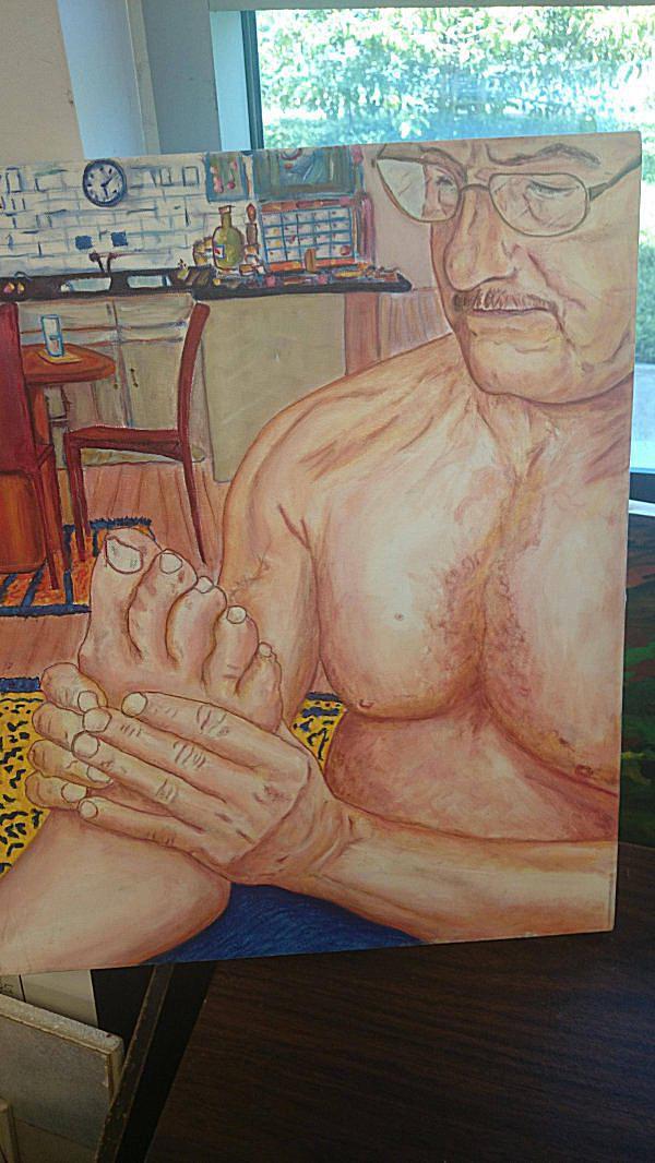 Foot Rub Thrift Store painting