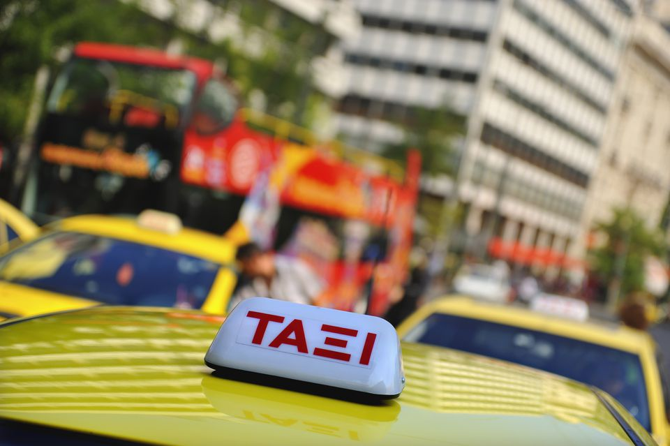 Taxis in Syntagma Square