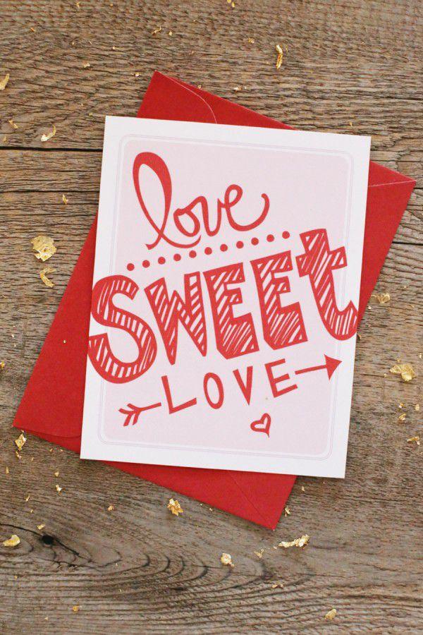 DIY Love Sweet Love Card