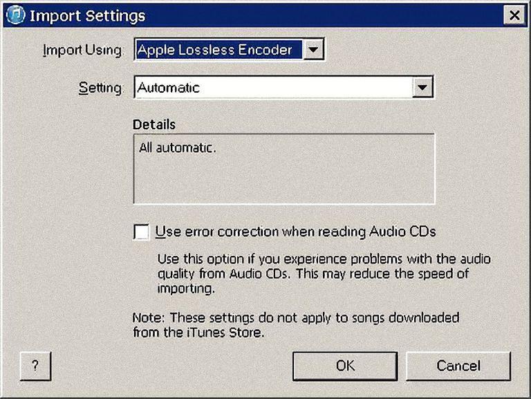 iTunes Encoder Preferences