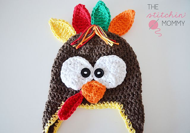 Newborn Turkey Hat FREE Crochet Pattern