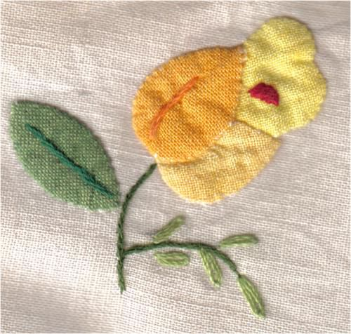 Hand Sewn Applique with Turned Edges