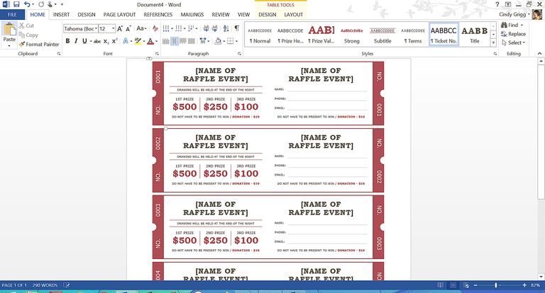 templates for tickets with stubs - free summer themed templates from microsoft