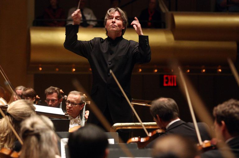 Essa-Pekka Salonen leading the Philharmonia Orchestra in Mahler's 'Symphony No. 9 in D major.'