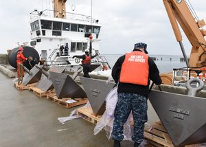 Coast Guard and Navy at Naval Weapons Station Earle