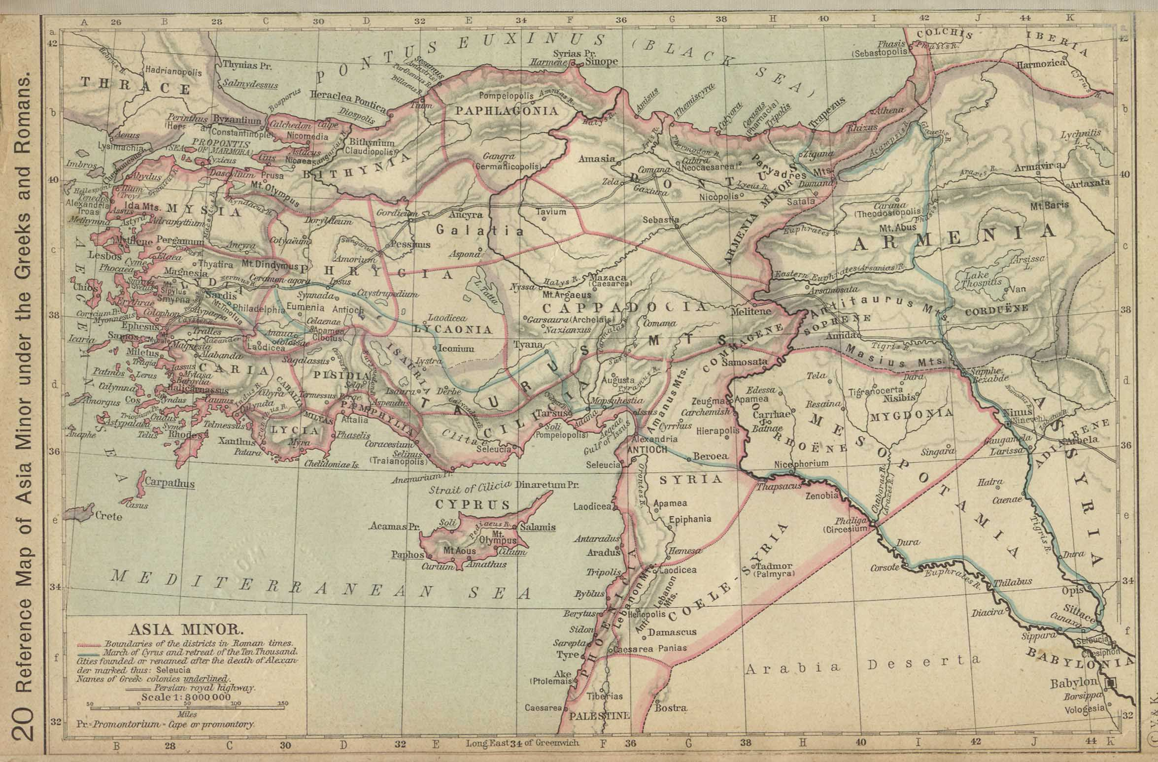 Asia Minor Information On Asia Minor - Map of egypt greece and rome