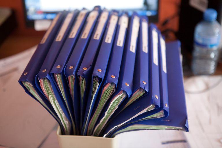 Files in a book