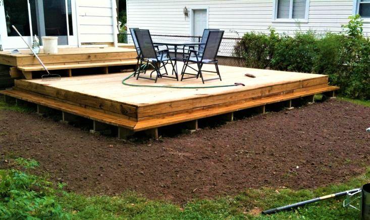 10 Beautiful DIY Backyard Decks on Simple Back Deck Ideas id=19354