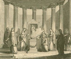 Vestal Virgins Serving in the Temple