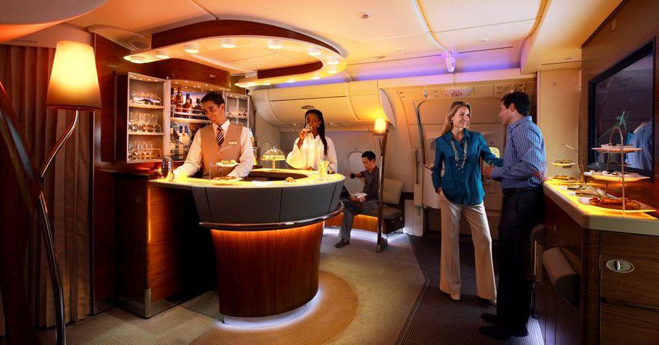 Emirates A380 Lounge
