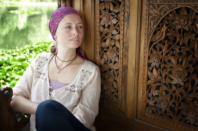 woman with breast cancer contemplating treatment