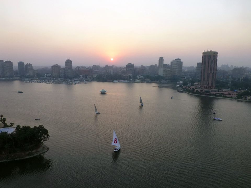 View of the Nile River from Four Seasons Hotel - Cairo at Nile Plaza