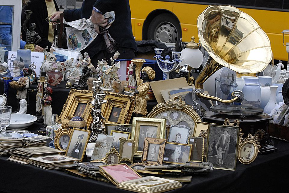 Antiques at a Denmark flea market
