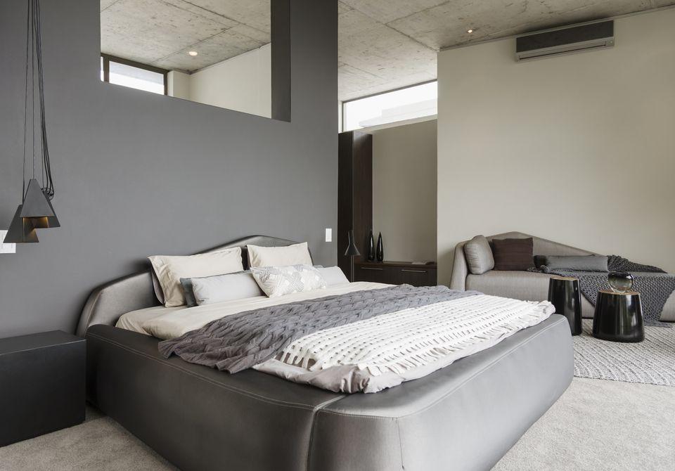 Modern Gray Bedroom