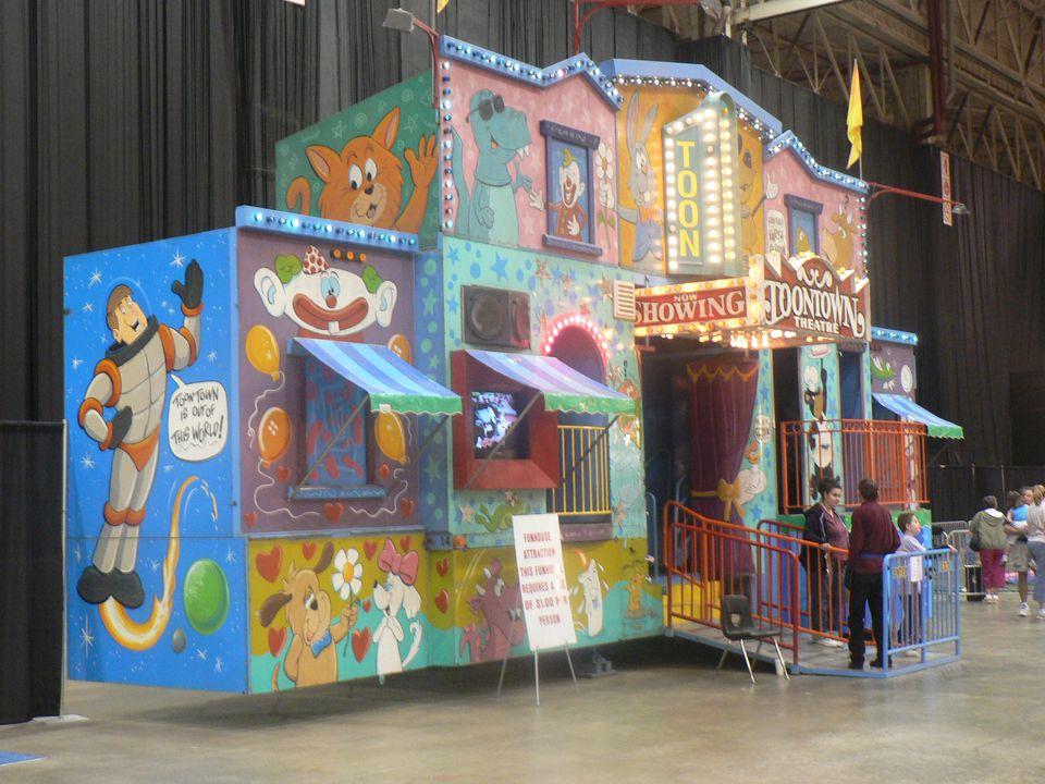 Fun house at the I-X indoor amusement park