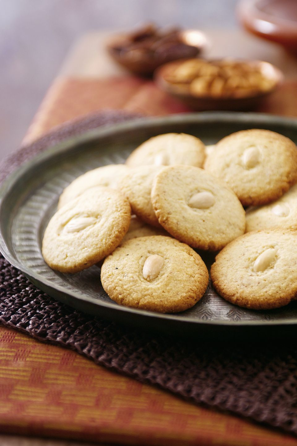 Moroccan almond biscuit, close-up
