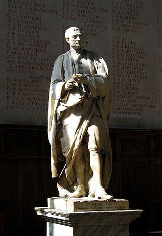 Estatua de Isaac Newton en el Trinity College