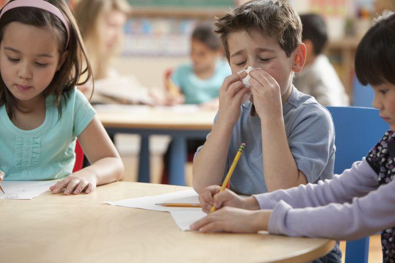 sick kid in school