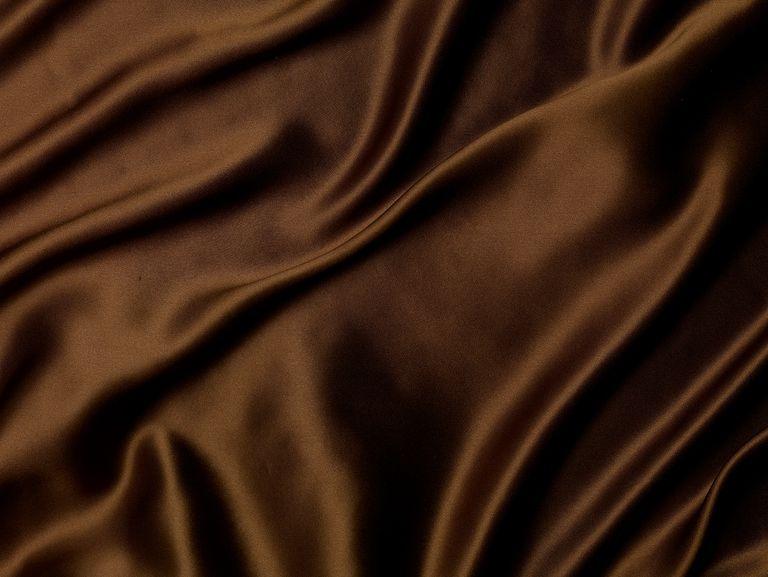 Brown Silk Fabric