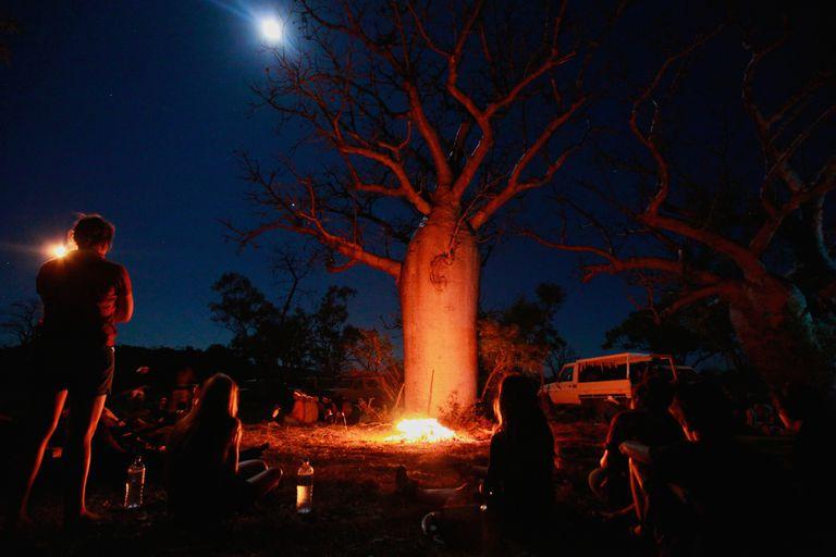 Bonfire Under the Full Moon