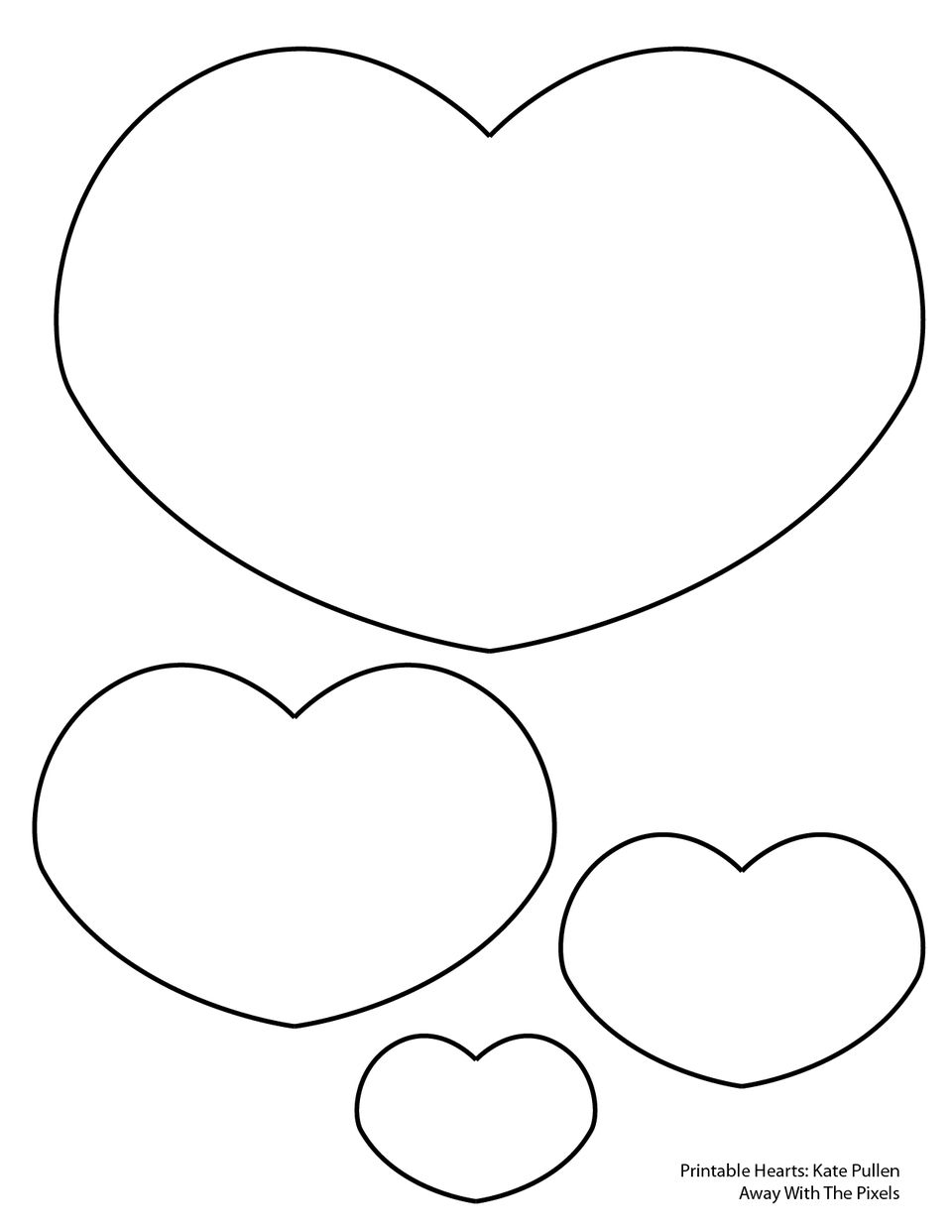 short fat heart template