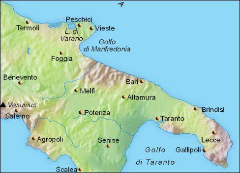 Puglia Travel Planning Maps - Bari map