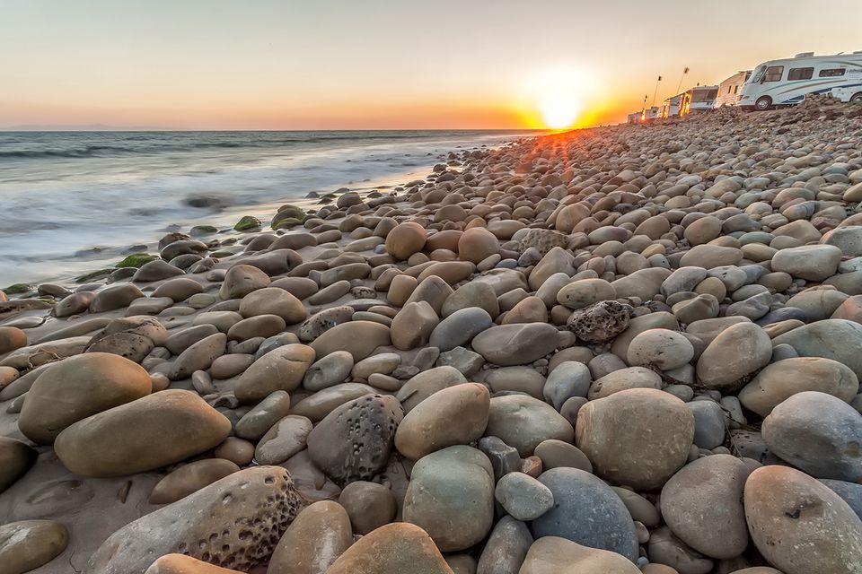 Sunset at Emma Wood State Beach