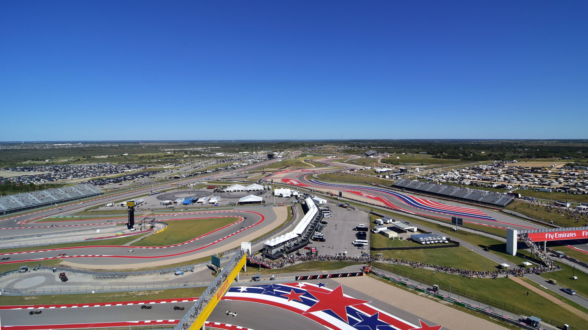 Circuit Of The Americas F1 Race Track In Austin