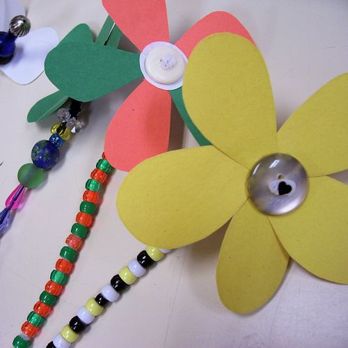 how to make button craft flowers
