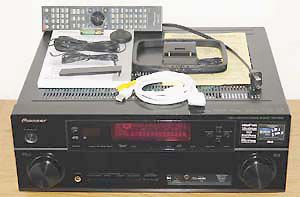Pioneer VSX-1020-K 7.1 Channel Home Theater Receiver - Front View w/Included Accessories