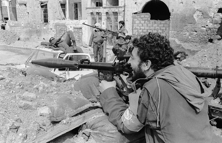 Mourabitoun Soldiers During Lebanese Civil War