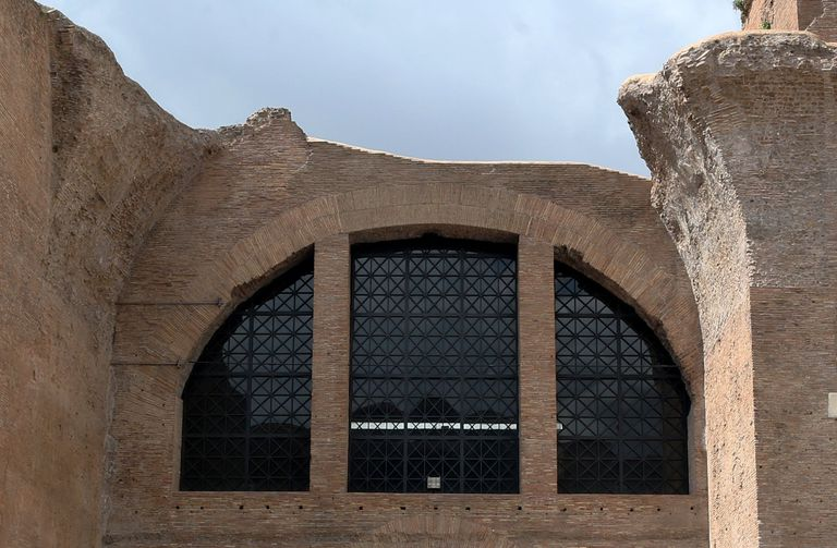 Restored Diocletian Window at the Baths of Diocletian, Thermae Diocletiani, Early Fourth Century AD