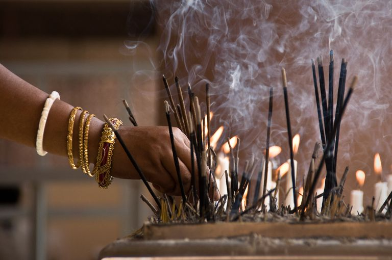 Incense stick and candles
