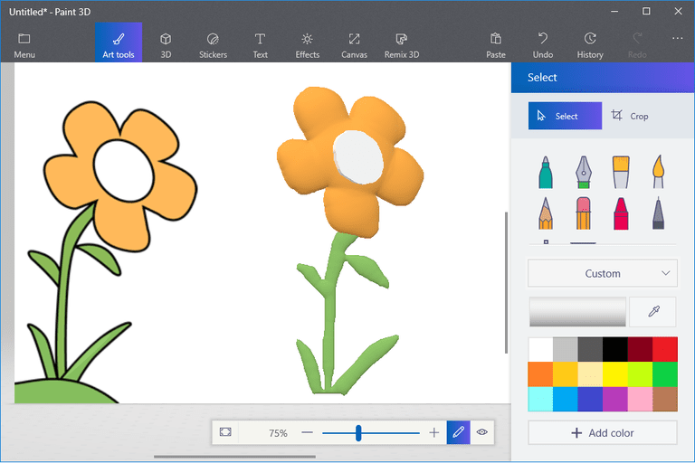How to turn a 2d drawing into 3d art in paint 3d for How to paint 3d