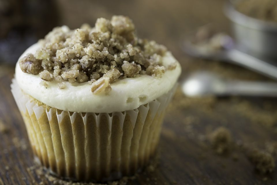 Sweet Potato Cupcake Topped with Streusel