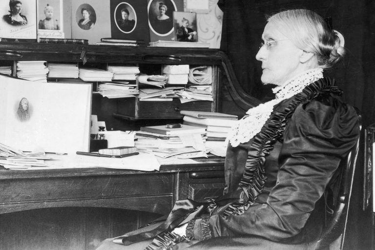 Susan B. Anthony at her desk