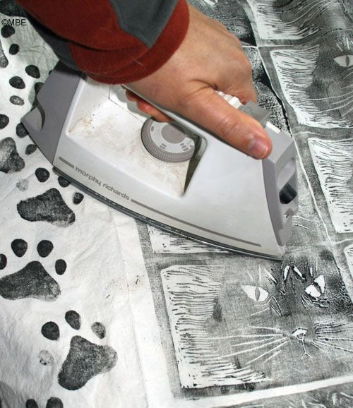 How to heat set fabric paint with an iron