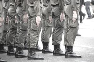 Young soldiers at their adjuration, Heldenplatz (heroes sqaure), Vienna, Austria