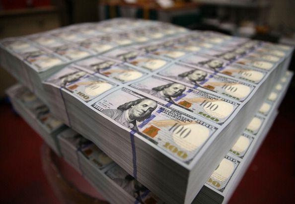 Freshly printed 100 dollar bills