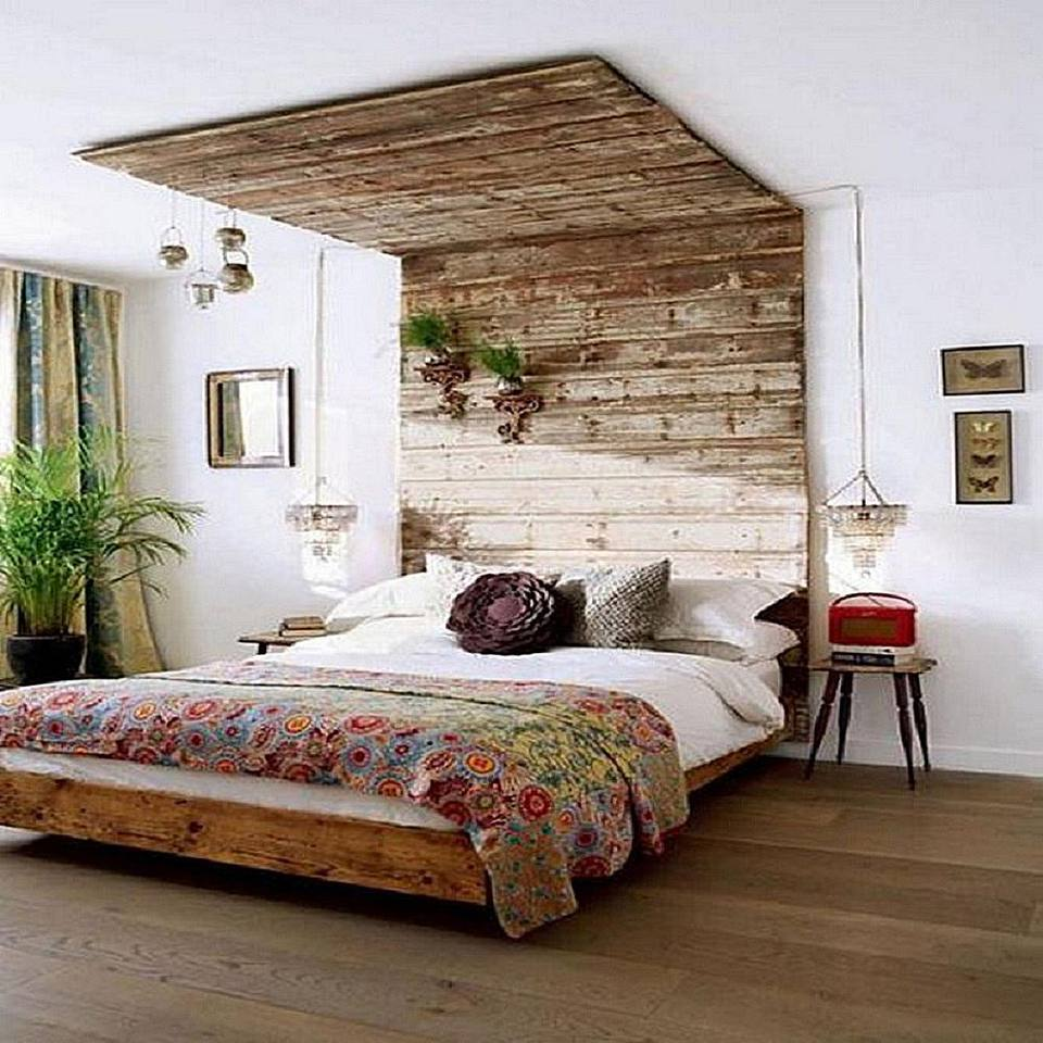 bedroom wall ideas. Photo Courtesy Of Lushome DIY Creative Bedroom Wall Ideas