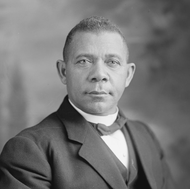 Picture of Booker T Washington, founder of the Tuskegee Institute.