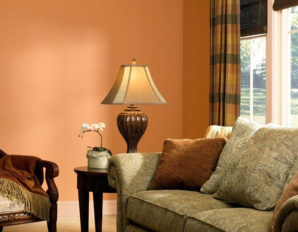 enchanting warm color living room paint ideas | Paint Treatments for Family Rooms