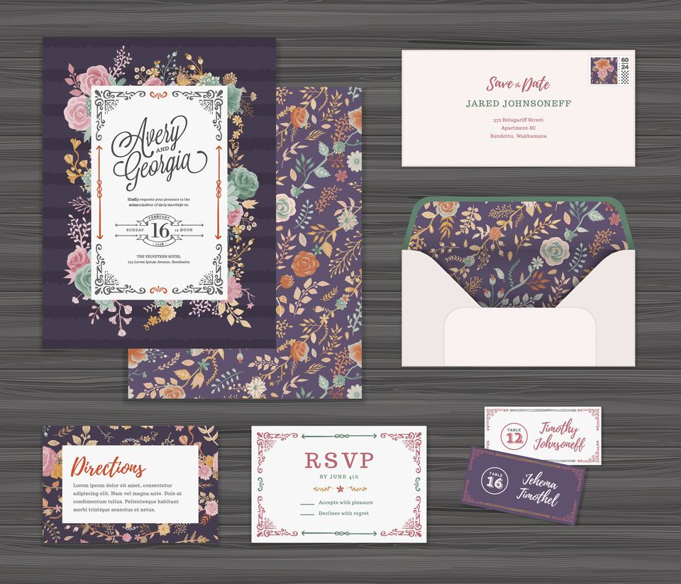 Wedding invitation wording etiquette examples basic wording for wedding invitations stopboris Gallery