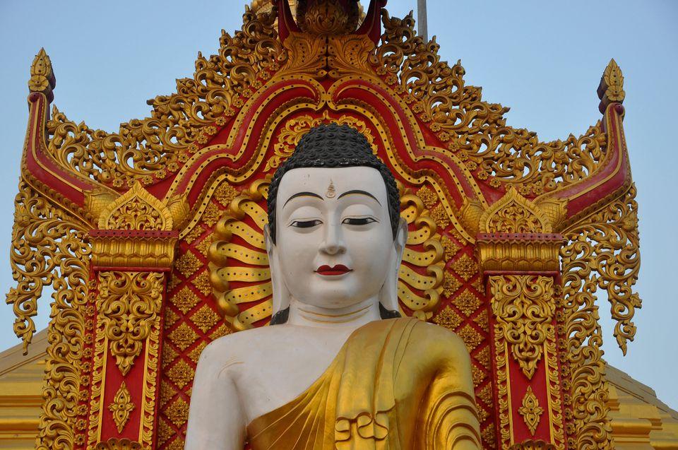 Buddha statue in global vipassana pagoda in Mumbai.
