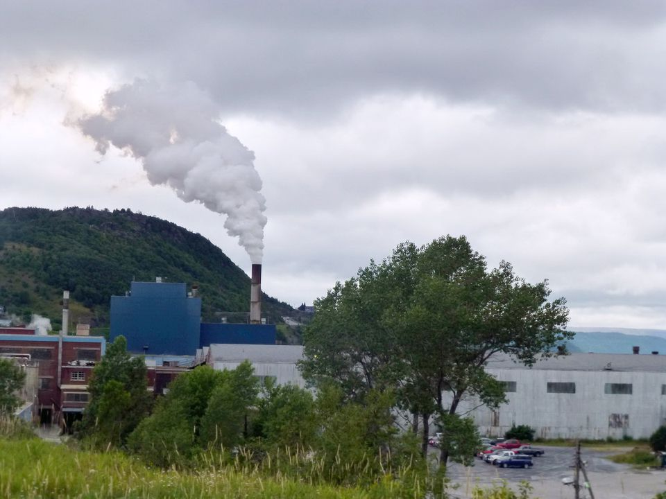 Paper Mill Steam Fills the Sky